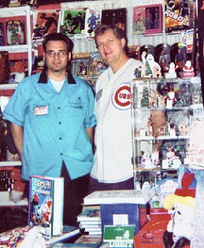 Kevin and Rick at the Time & Space Toys booth.