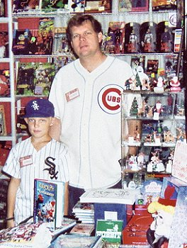 Rick and his son Josh at the Time & Space Toys booth.
