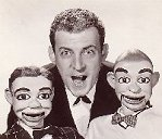 Paul Winchell with his pals  Jerry Mahoney & Knucklehead Smiff