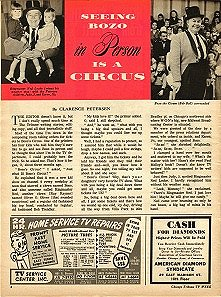 A vintage article about Bozo's Circus