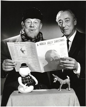 Burl Ives and Johnny Marks look on in disbelief!