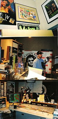 Vaious shots of Mancow's studio at Chicago radio station Q101.